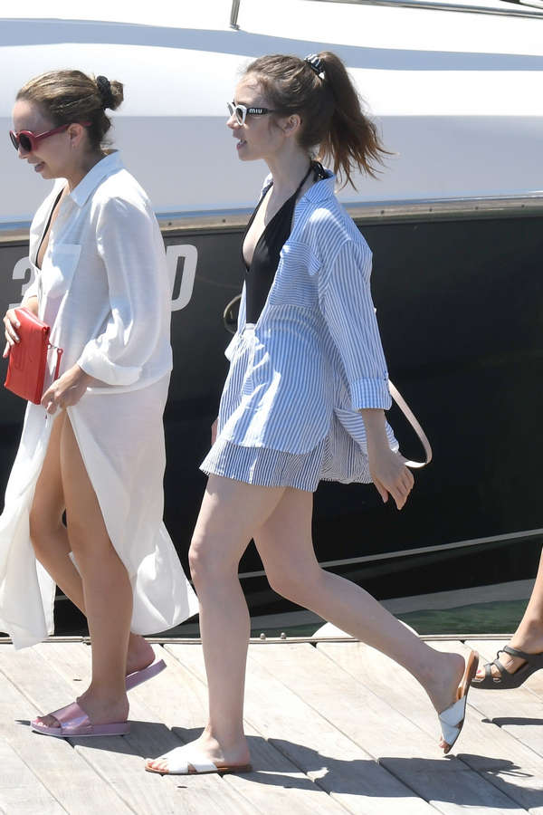 Lily Collins Feet