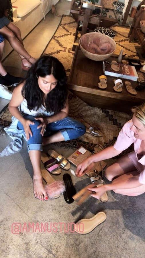 Salma Hayek Feet