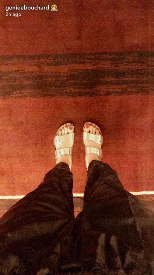 Feet eugenie bouchard Man found