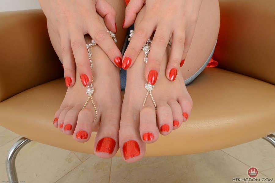 Scarlet Red Feet