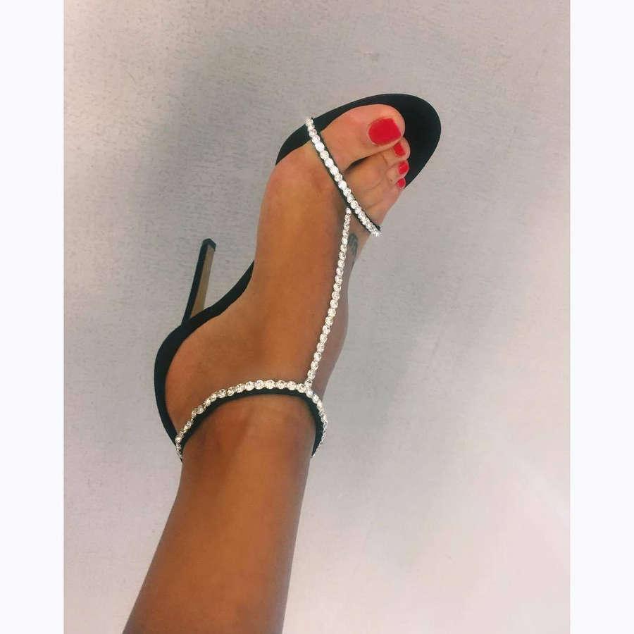Amina Muaddi Feet