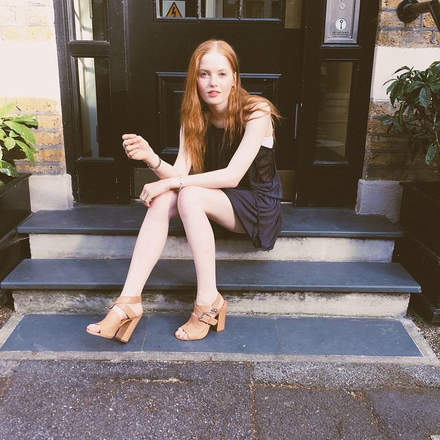 Ellie Bamber Feet