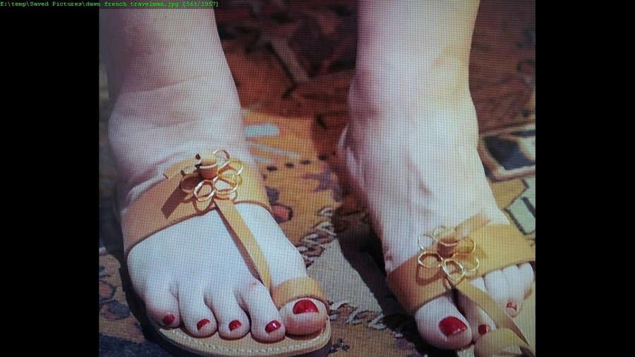 Dawn French Feet
