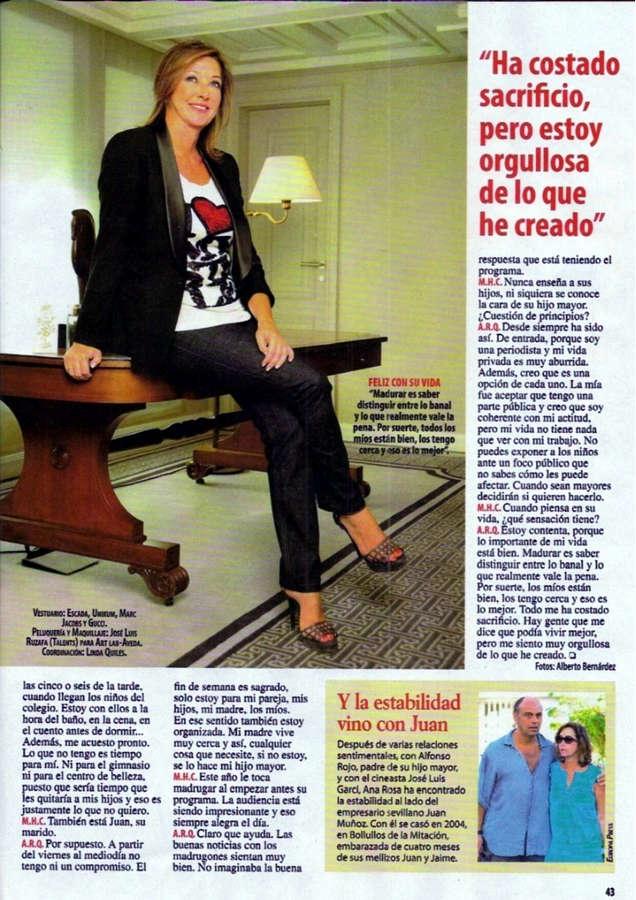 Ana Rosa Quintana Feet