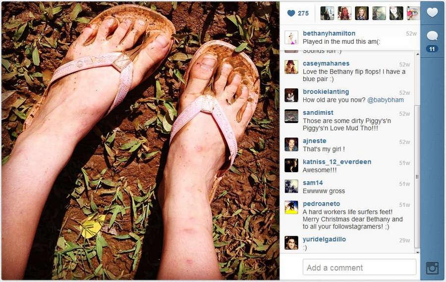 Bethany Hamilton Feet