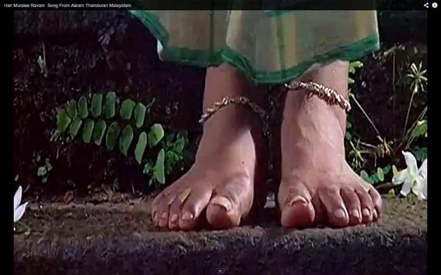 Manju Warrier Feet