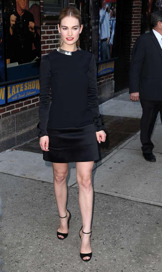 Lily James Feet