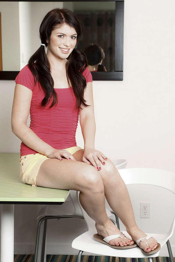 Teen girl thongs model