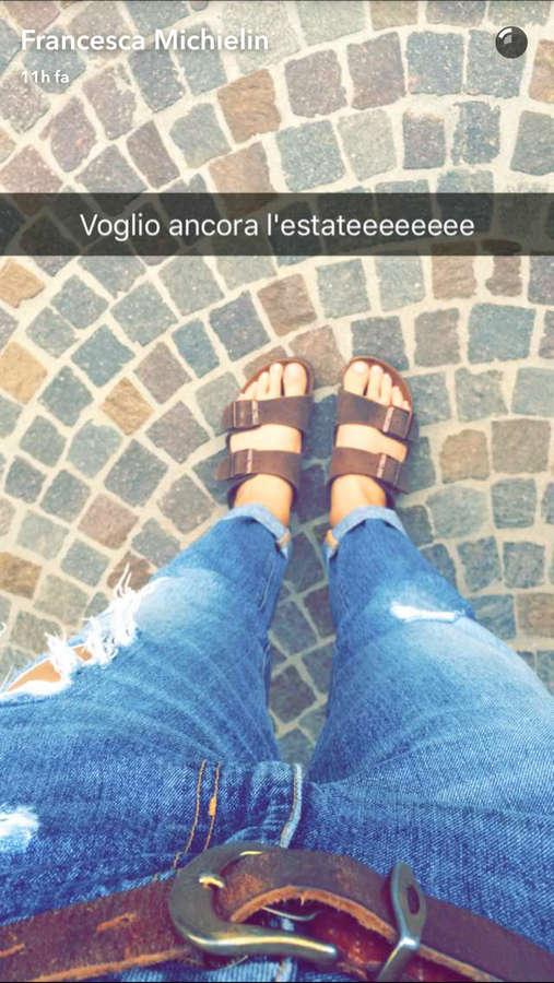 Francesca Michielin Feet