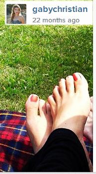 Gabrielle Christian Feet