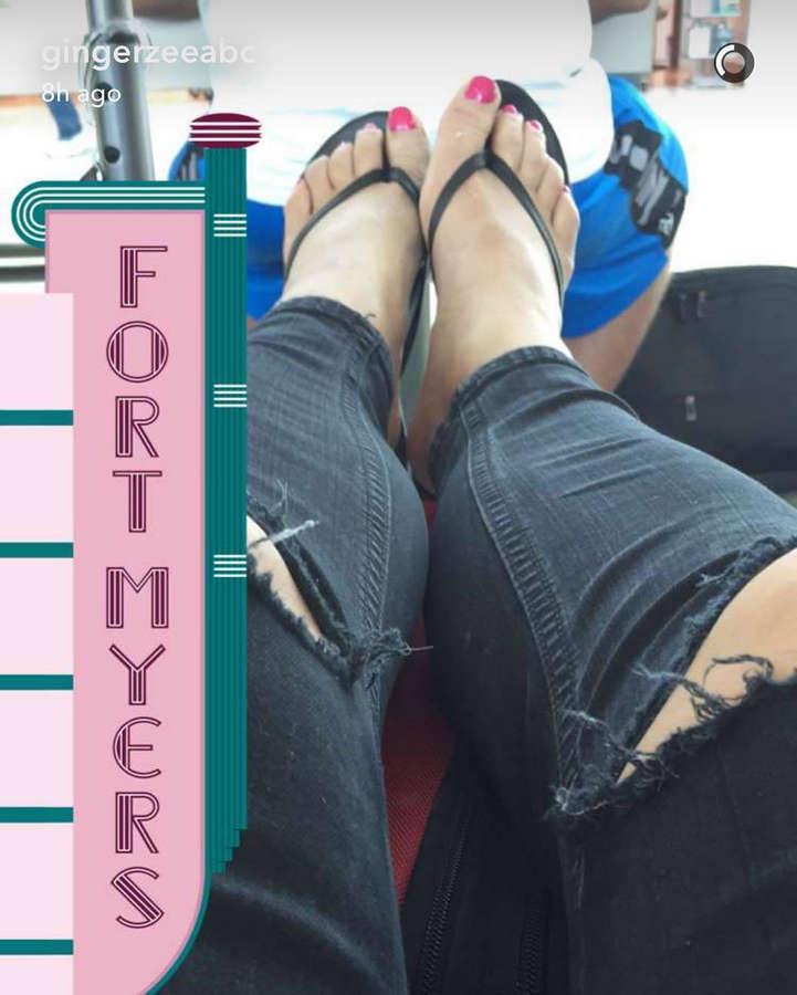 Ginger Zee Feet