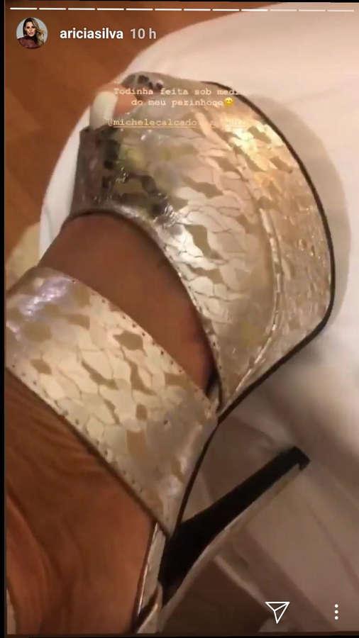 Aricia Silva Feet