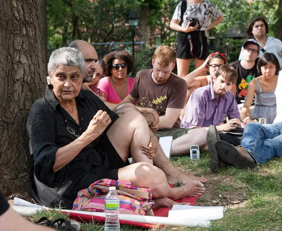 Gayatri Chakravorty Spivak Feet