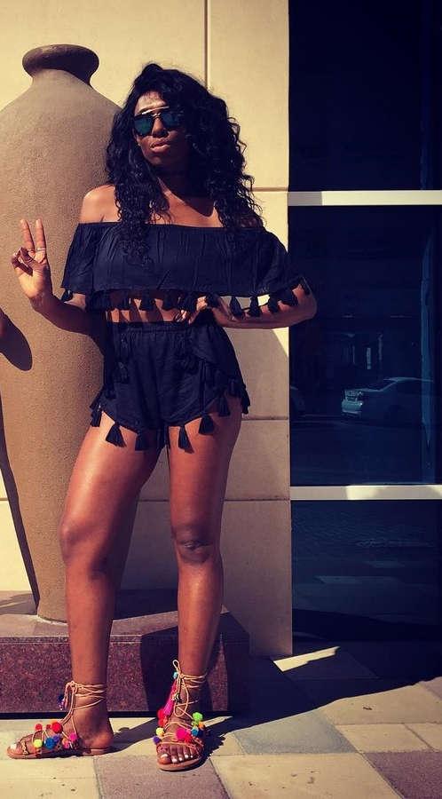 Irene Agbontaen Feet