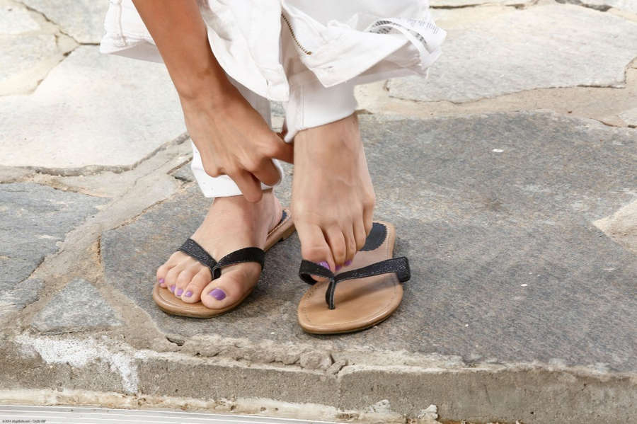 Kendall White Feet